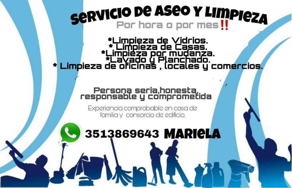 Servicio de Limpieza Y Aseo.