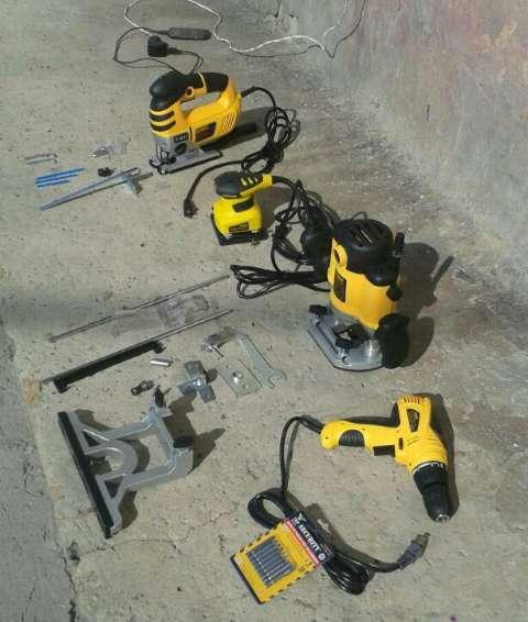 gran liquidacion de herramienta electrica ruteadoras lijadoras tronzadoras taladros pulidoras equipos de soldadura y mas