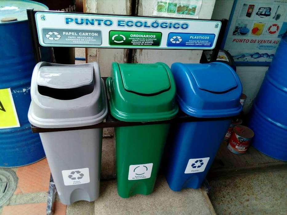 Puntos Ecologicos Reciclaje Canecas