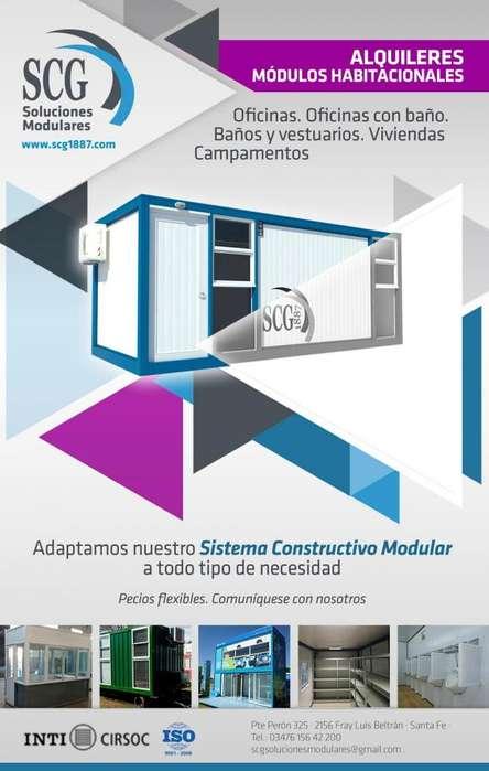 Alquiler de Modulos Habitacionales .
