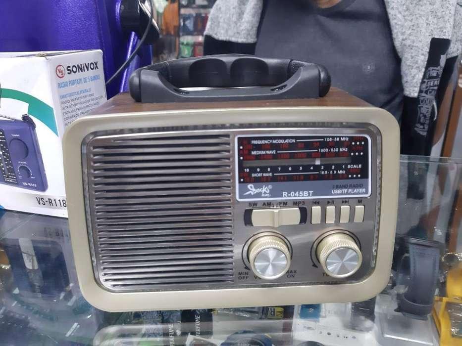 Radio Recargable con Conexión a Bluetoot