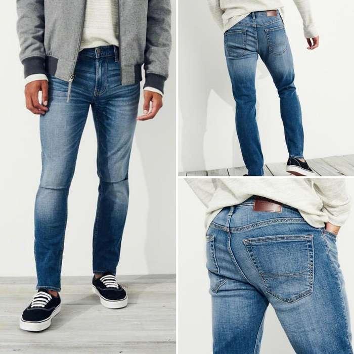 1faf67e37e Pantalon Jeans Super Skinny Hollister Talla 32 X 32 Para Hombre