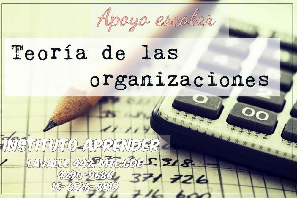 Teoría de las organizaciones. Apoyo escolar.