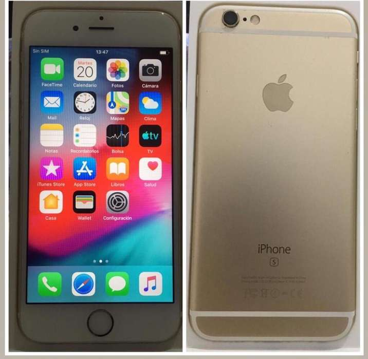 Vendo iPhone 6S Dorado 16gb libre