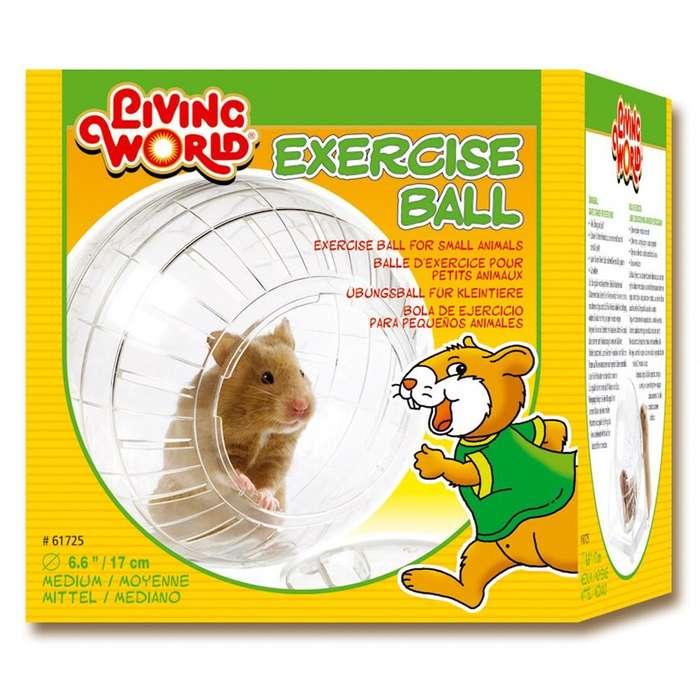 Exclusiva Esfera Bola de Ejercicios para <strong>hamster</strong> Sirio o Dorado. Con parantes. 17 cm. Nuevo