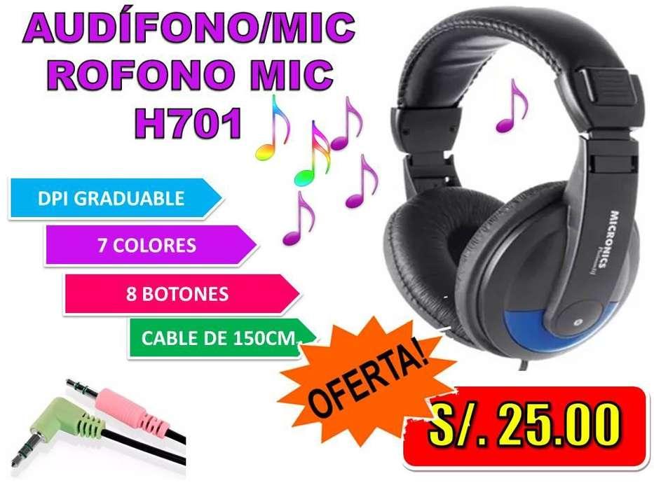 AUDÍFONO/MICROFONO MIC H701