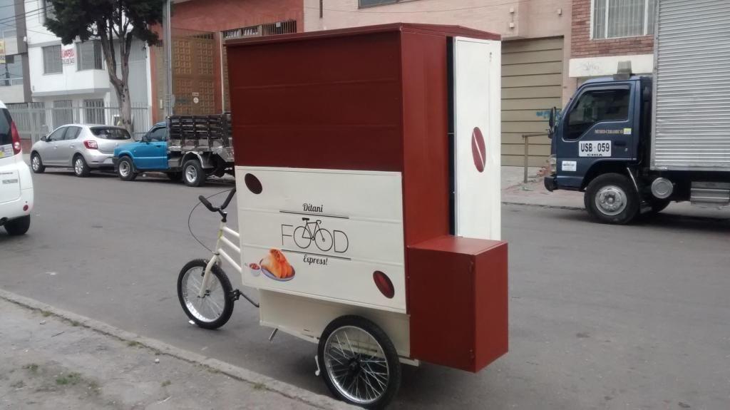 Triciclo de carga para venta móvil