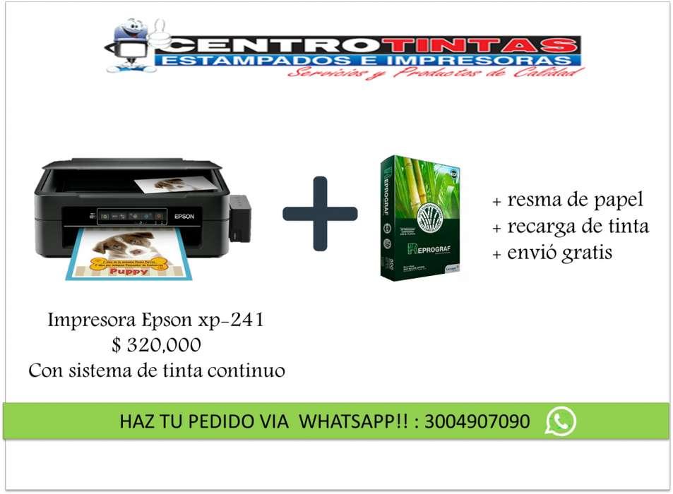 Impresora multifuncional Epson xp241 Recarga de tinta Resma de papel
