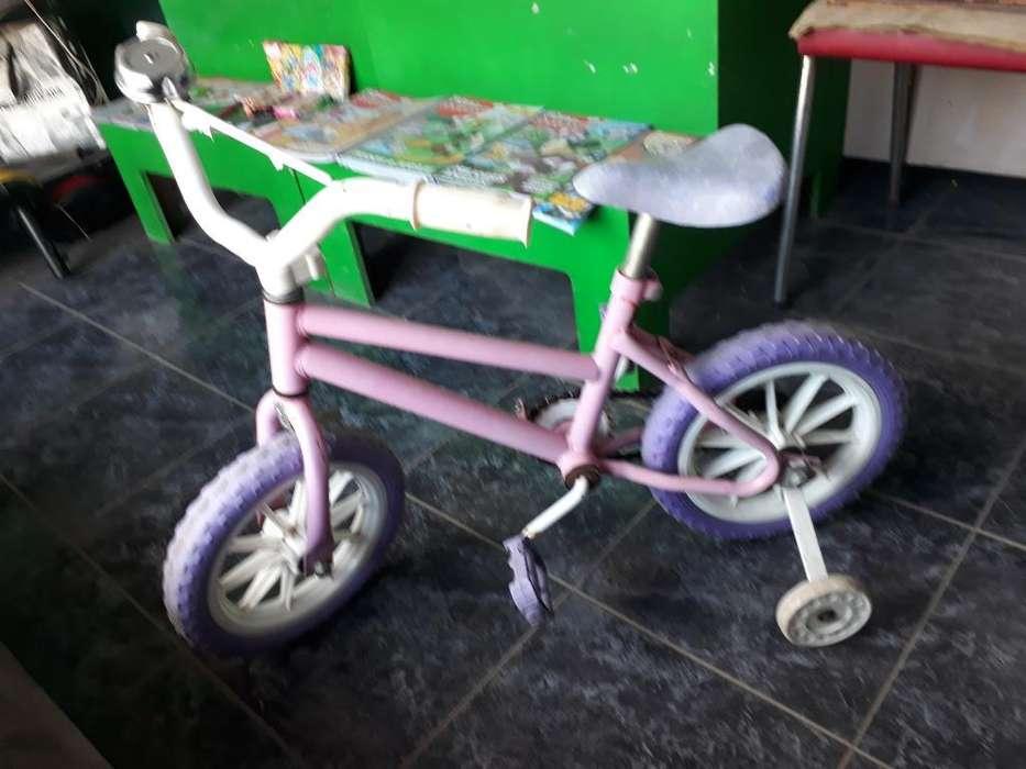 Bicicleta Rosa para Chica con Ruedita B