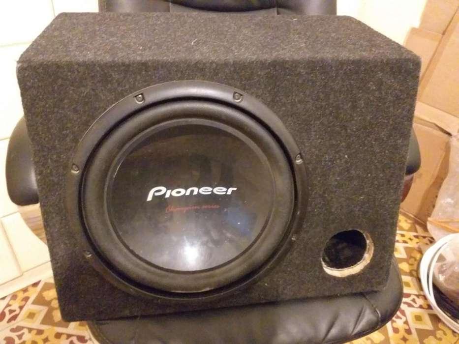 Amplificador mas parlante bajo pioner