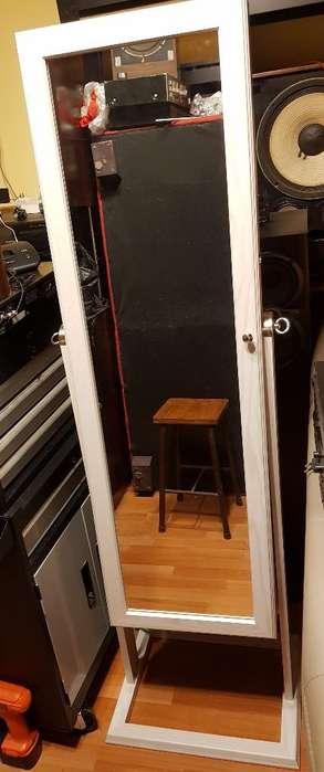 Espejo Vestidor con Porta Accesorios