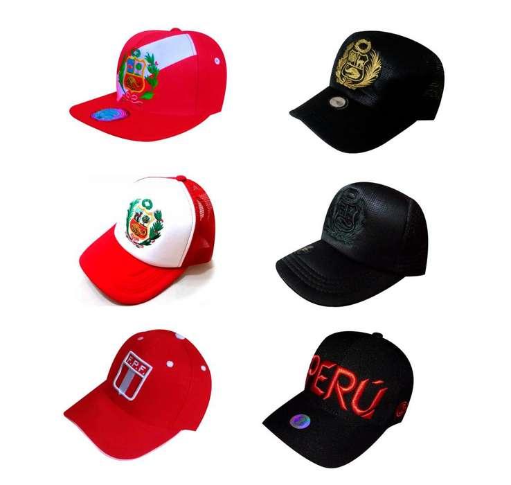 Gorra Gorro escudo Nacional del Perú y letra Peru oferta