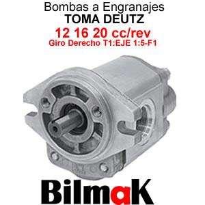 Bomba A Enganaje Toma Deutz 12 16 20 Cc/rev Giro Derecho