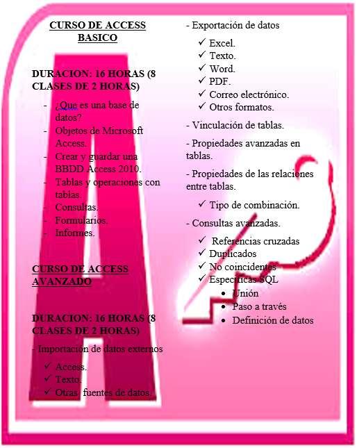 CURSO DE ACCESS PERSONALIZADO CONTENIDO DISPONIBLE REVISALO