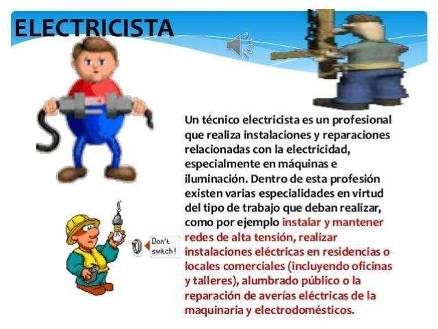 Técnico Electricista Especializado y Matriculado