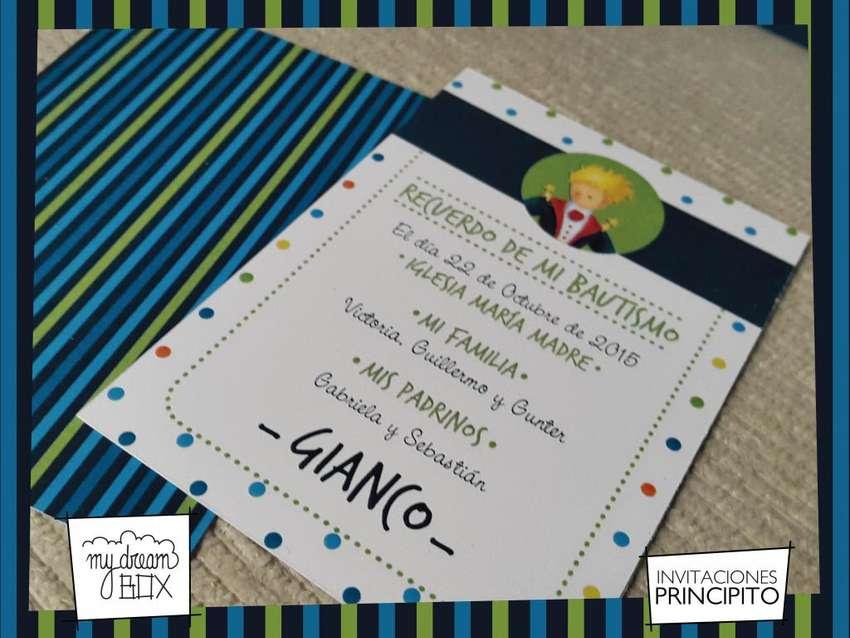 Souvenir Tarjetas Invitacion Principito Cumple Infantil
