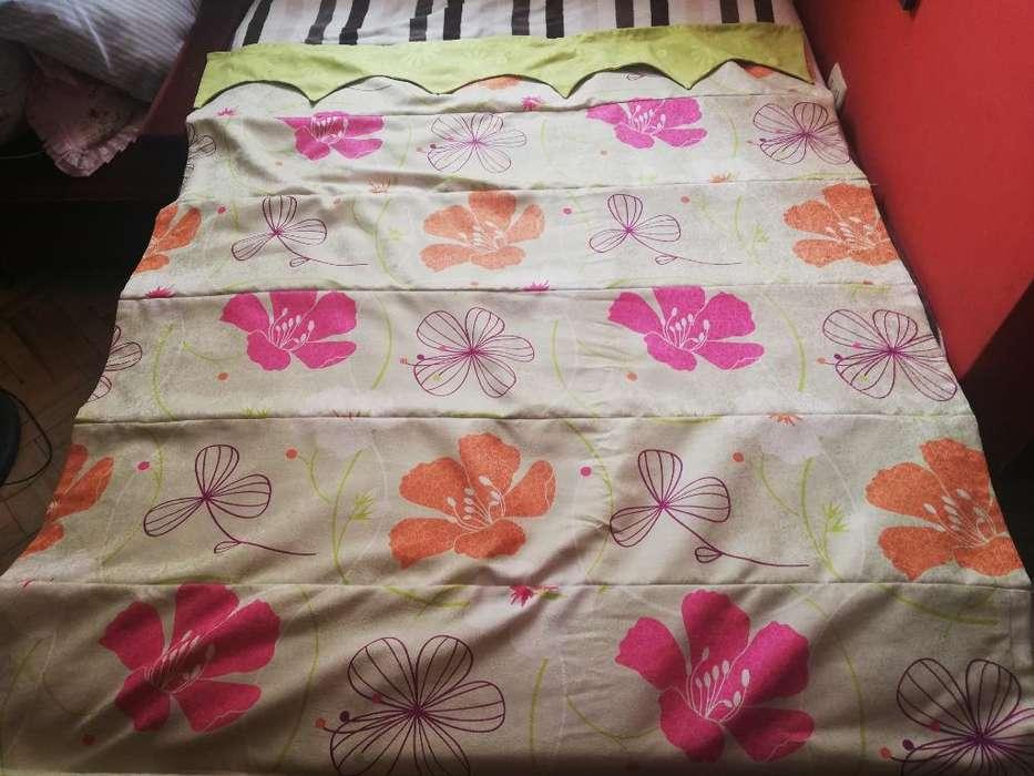 Cortina Estor Diseño Floral Hawaiano