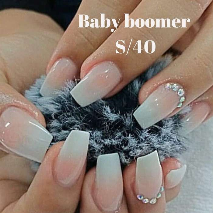 uñas baby boomer