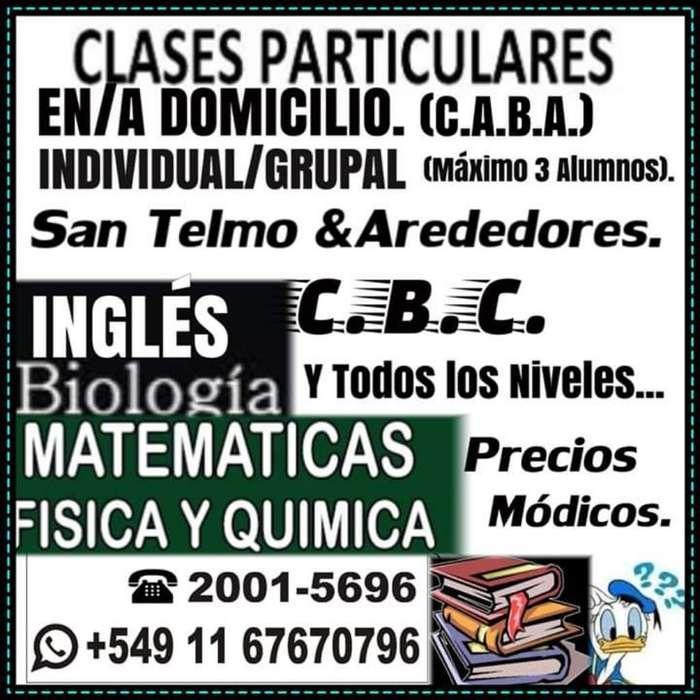 Clases: Materias Exactas E Inglés