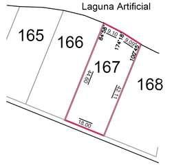 .VENTA de INIGUALABLE LOTE en LA PEREGRINA . 825,98 M2 Fondo de Laguna