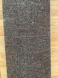 Alfombra fibra natural marron con remate textil 3m x 21m