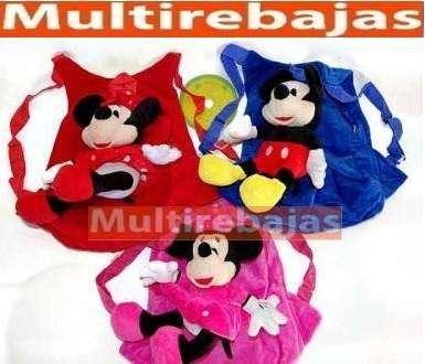 Mochila De Peluche Infantil Pony Minnie Mouse Mickey