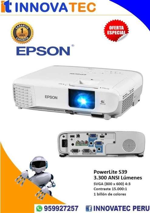 PROYECTOR EPSON POWERLITE S39, 3300 LÚMENES