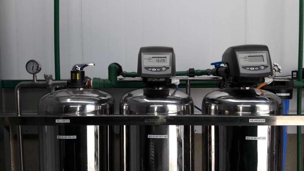 Ablandador de Agua Automático, 2500 litros hora Caudal