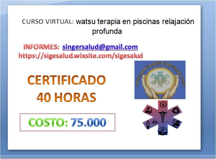 75.000 curso virtual: watsu terapia en piscinas relajación profunda