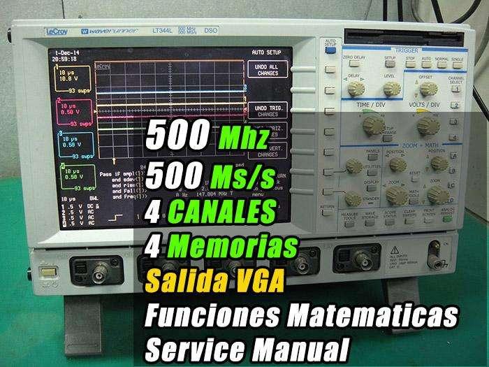 Osciloscopio LeCroy LT344L 500Mhz 4 canales 8 trazos