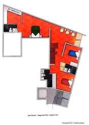 Dúplex de estreno en primer piso con terraza kx1602