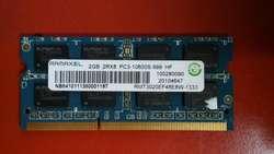 Memoria RAM 2GB DDR3 para Notebook