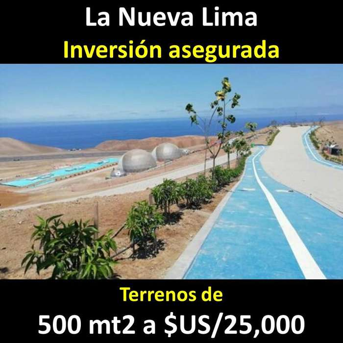 Venta de Terrenos 500 mt (INVERSIÓN ASEGURADA) Km 120 PANAMERICANA SUR Cerca de la CARRETERA