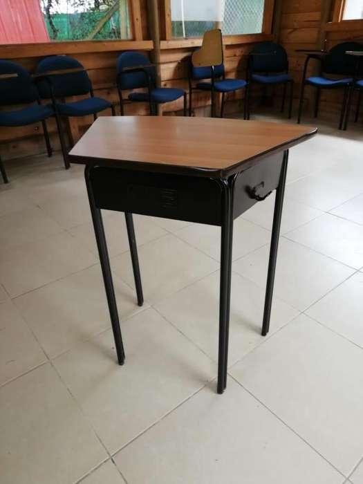 Mesa para pupitre unipersonal primaria y bachillerato.