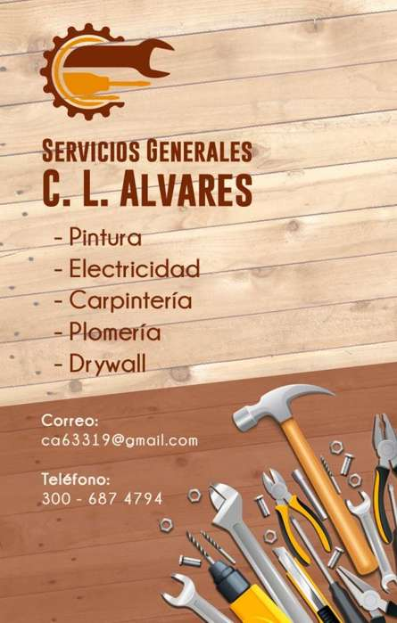 Servicios Pintura , Electricidad , Carpinteria , Plomeria , Drayw, Muebles Modulares