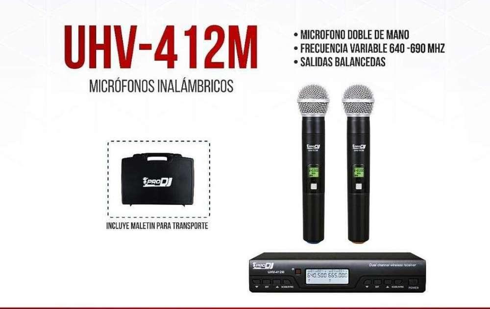 Microfonos Inalambricos Uhv512m Pro Dj