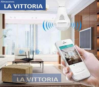 Foco Cámara Wifi Monitoreo Celular