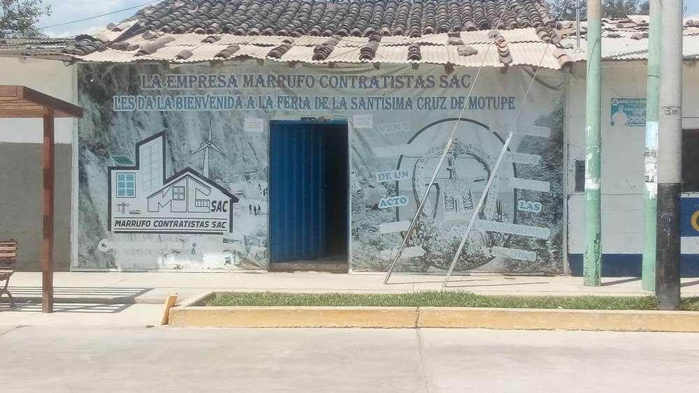 CASA / TERRENO EN VENTA MOTUPE 350m2 APROX., EN EXCELENTE UBICACIÓN: AV. CRUZ DE CHALPON