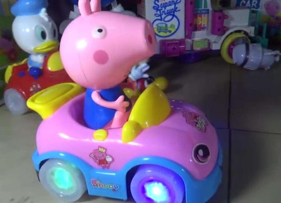 Carro de Peppa Pig con Luces, Sensor Y M