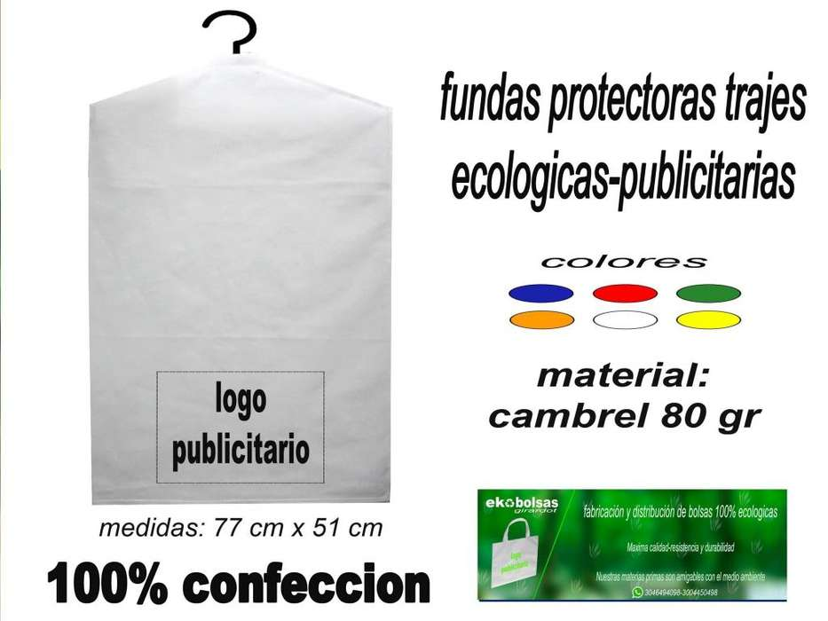 forros tipo bolsas para trajes-vestidos, ecologicos-publicitarios