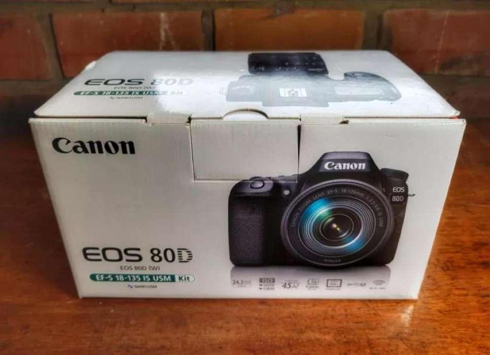 Vendo Camara Canon Eos 80d