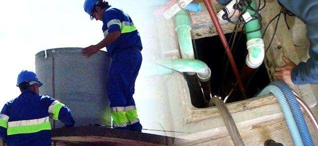 Construcción, Reparación y limpieza de tanques de agua