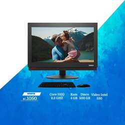 All in One Lenovo M700z ThinkCentre Core i5 6Gen, Ram 4Gb DDR4, Hdd 500Gb, Pantalla 20