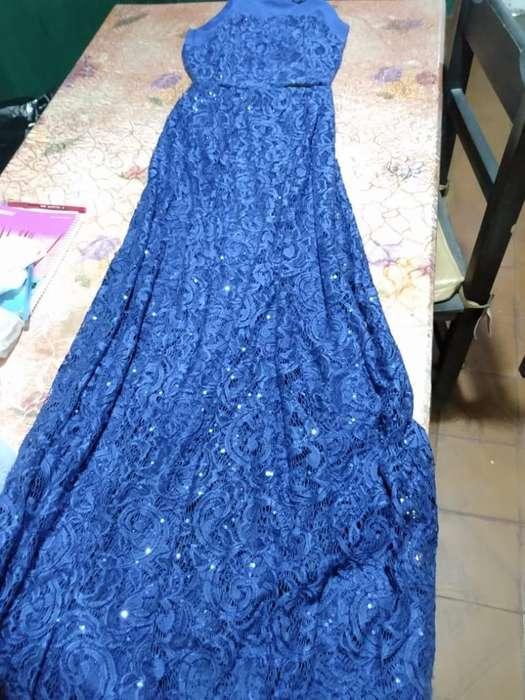 Vestido de Fiesta Azul Talle 2 Impecable