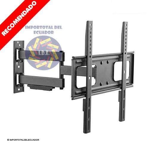 Soporte de pared giratorio ''nuevo'' brazo flexible muy largo tv plana o curved 32 a 55'' / Resiste ''110 libras''
