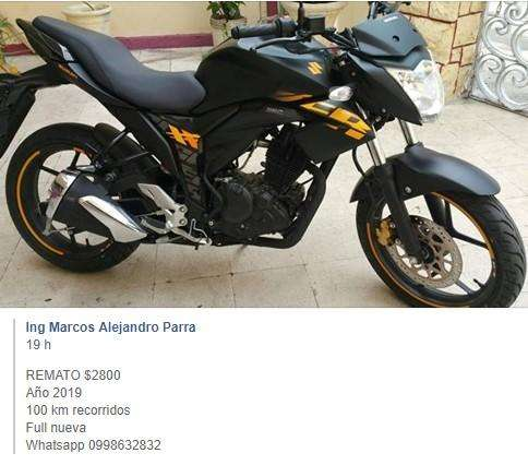 Vendo Moto Suzuki Gixxer 150 Nueva 2019