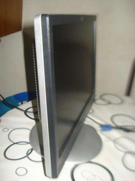 Monitor Color Lcd 17 Hp W17e Completo Con Cables Funcionando