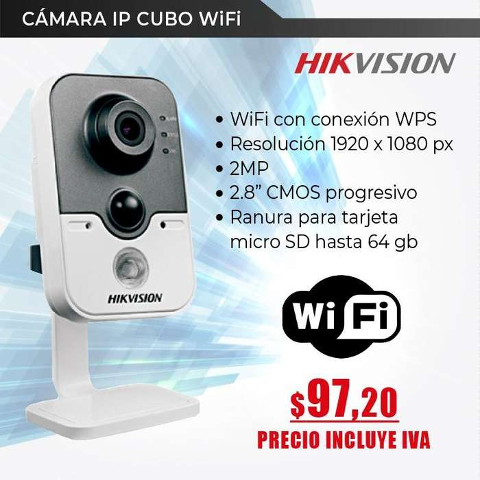 Cámara Ip Cubo Interior 2mp Hikvision-wifi