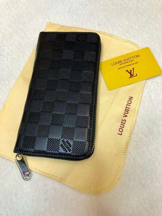 Billeteras Largas Louis Vuitton Negras