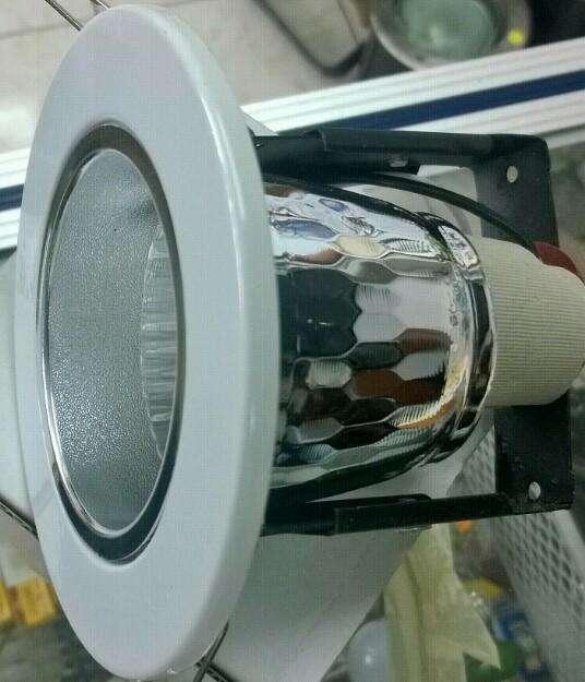 Ojo de buey para ahorrador pequeño o foco LED boquilla E27
